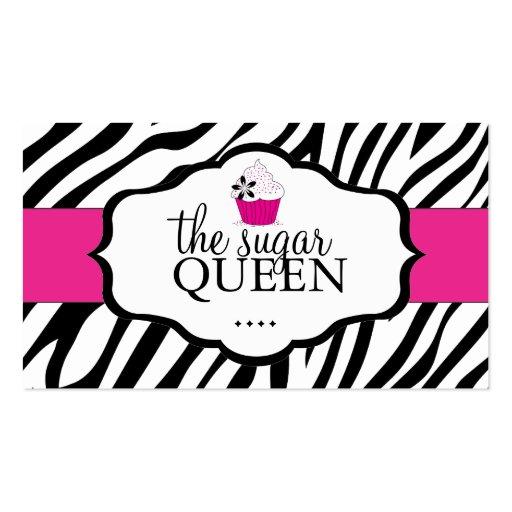 Sassy Zebra Cupcake Loyalty Cards Business Card Templates