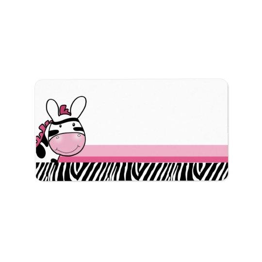 Sassy Zebra Diva Print your Own Mailing Label