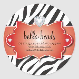 Sassy Zebra Jewelry Designer Stickers