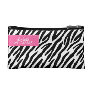 Sassy Zebra Pattern Makeup Bag