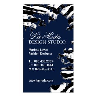 Sassy Zebra Print  Business Card