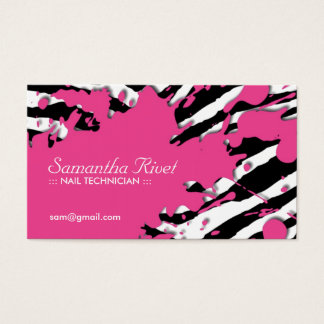 Sassy Zebra Print Business Cards
