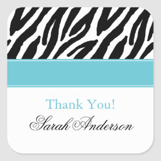 Sassy Zebra Stripes Square Sticker