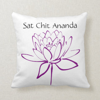 Sat Chit Ananda Purple Lotus Pillow Cushions