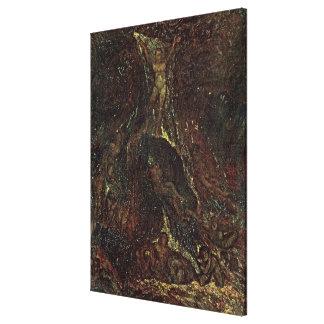 Satan Calling up his Legions Stretched Canvas Print