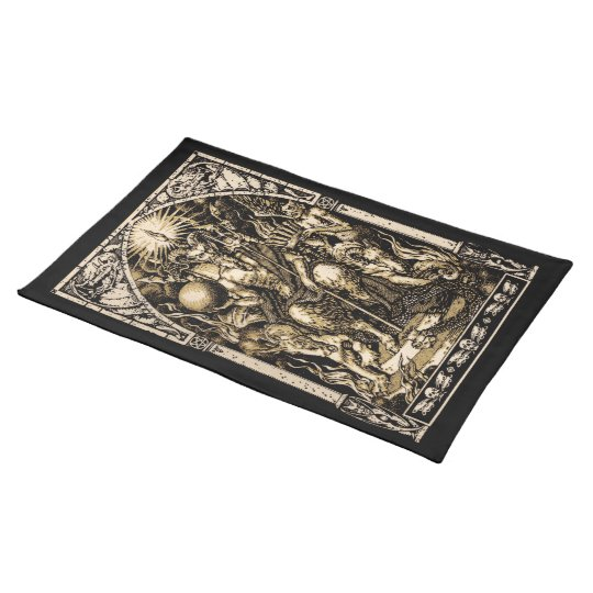 Satan Enthroned 14x20 on Woven Cotton Placemats