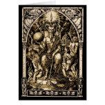 Satan Enthroned Winter Solstice Greeting Card