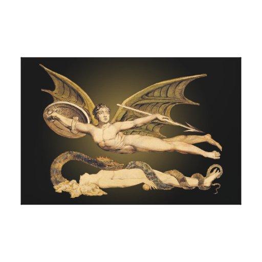 Satan & Eve 36x24 Stretched Canvas Artwork- Canvas Prints