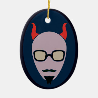 Satan Is A Hipster Christmas Ornament