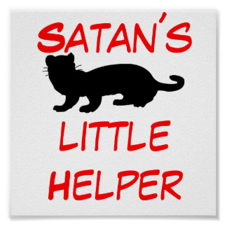 Satan´s little Helper also ferret-outlined Poster
