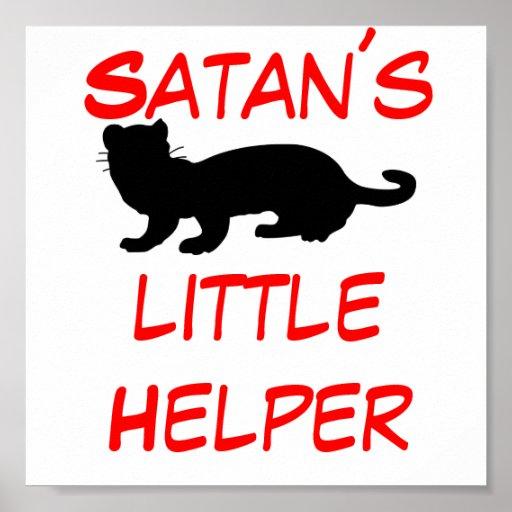 Satan´s little Helper also ferret-outlined Posters