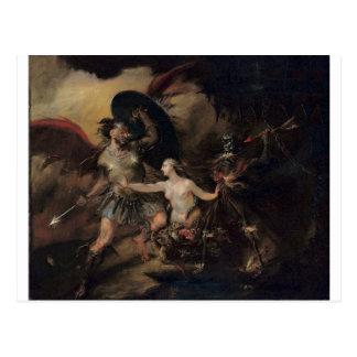 Satan, Sin and Death by William Hogarth Postcard