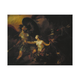 Satan, Sin and Death Stretched Canvas Prints