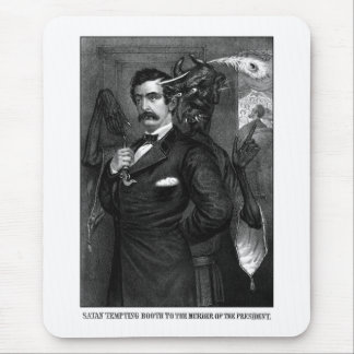 Satan Tempting John Wilkes Booth Mouse Pad