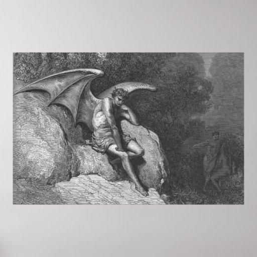 Satan Thinking Poster