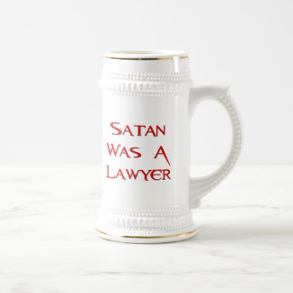 Satan Was A Lawyer Beer Stein