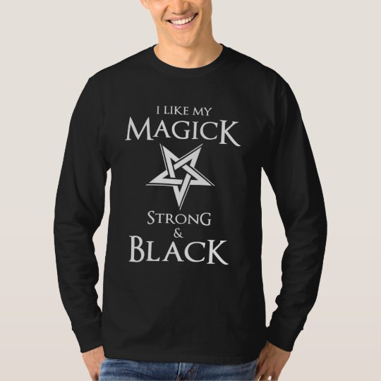 Satanic and Goth Black Magic Witches Pentagram T-Shirt