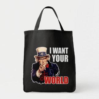 Satanic Capitalist Uncle Sam Canvas Bags