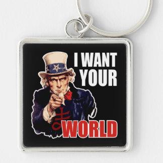 Satanic Capitalist Uncle Sam Keychain