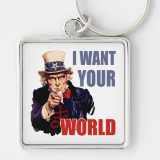 Satanic Capitalist Uncle Sam Keychains
