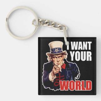Satanic Capitalist Uncle Sam Acrylic Keychains