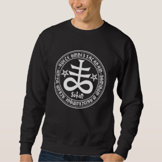 Satanic Cross with Hail Satan Text and Pentagrams Sweatshirt