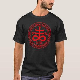 Satanic Cross with Hail Satan Text and Pentagrams T-Shirt