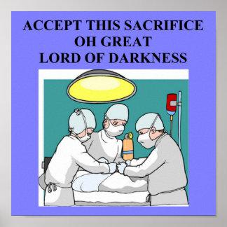 satanic doctor physician surgeon poster