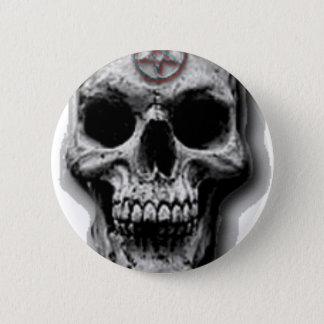 Satanic Evil Skull Design 6 Cm Round Badge