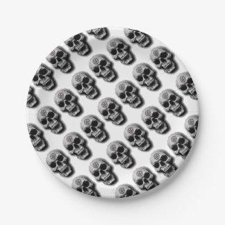 Satanic Evil Skull Design 7 Inch Paper Plate