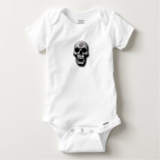 Satanic Evil Skull Design Baby Onesie