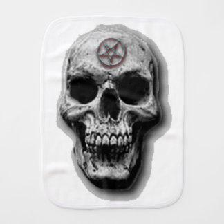 Satanic Evil Skull Design Burp Cloths