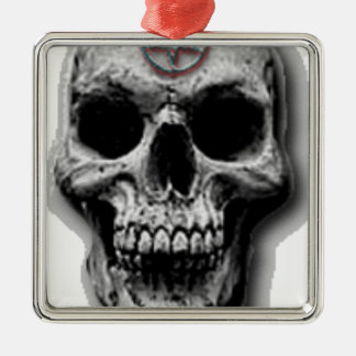 Satanic Evil Skull Design Christmas Ornament