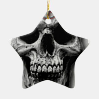 Satanic Evil Skull Design Christmas Ornament