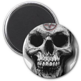 Satanic Evil Skull Design Magnet
