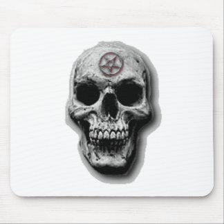 Satanic Evil Skull Design Mouse Mat