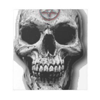 Satanic Evil Skull Design Notepad