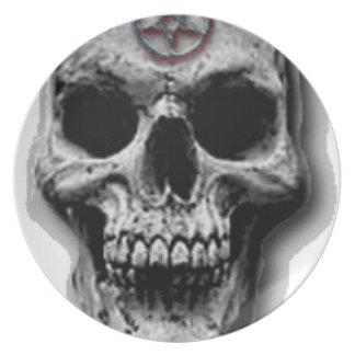 Satanic Evil Skull Design Plates