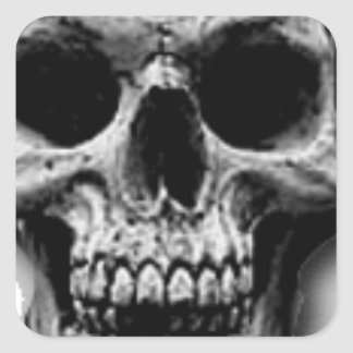 Satanic Evil Skull Design Square Sticker