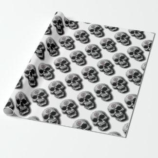 Satanic Evil Skull Design Wrapping Paper