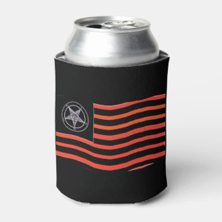 Satanic Flag Can Cooler