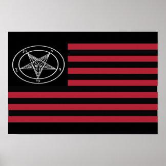 Satanic flag poster