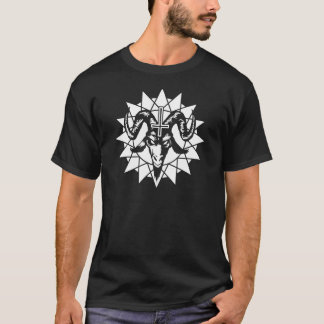 Satanic Goat Head with Chaos Star (white) T-Shirt