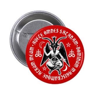 Satanic Goat Headed Baphomet 6 Cm Round Badge