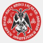 Satanic Goat Headed Baphomet Round Sticker