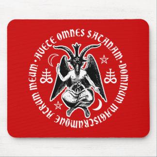 Satanic Goat Headed Hail Satan Baphomet Mouse Mat