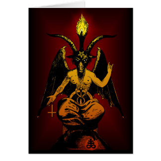 Satanic Goat note/greeting card