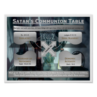 Satan's Communion Table Poster