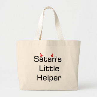 Satan's Little Helper Large Tote Bag