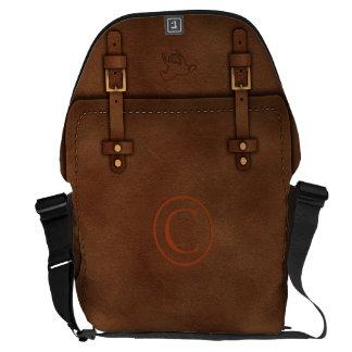"satchel Pony Express leather Monogram ""C"" Commuter Bags"